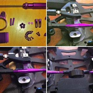 purple trinity steering links