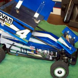 My Awesome JRC 17.5 Sprinter given to me by my son Steve who built the car for me as a retirement gift!.