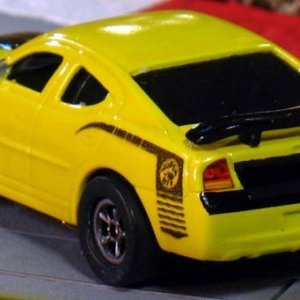 AW 08 Dodge Charger Super Bee Yellow Black Rear