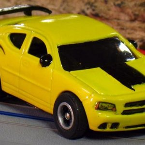 AW 08 Dodge Charger Super Bee Yellow Black Front