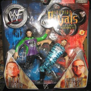 mat hardy vs bubba ray dudley, 2002 wwf action figure, never out of box.