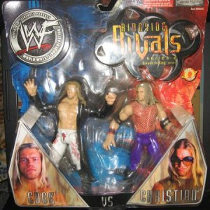 2002 wwf action figure, edge vs christian, never out of box.