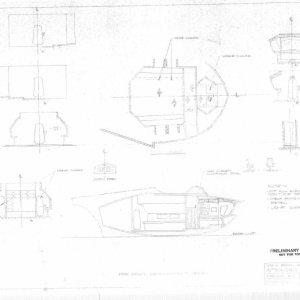 Aurora blueprints of Spindrift from Land of the Giants