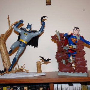 Superman and Batman Models