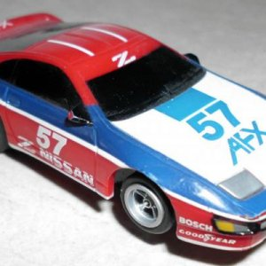 Tomy AFX Nissan 300Z Red White Blue 57