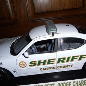 Canyon Co Dodge Charger  Charger Interior was heavily modified. Prisoner back seat was hand made out of sheet plastic. Cage partition was hand made th