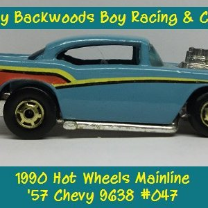 1990 Hot Wheels '57 Chevy 9638 #047