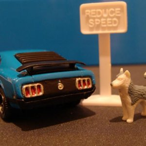 Matchbox '70 Mustang Mach 1 with custom taillights