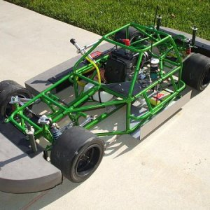 This uses lightning front a-arms and steering rack,all home built rear suspension