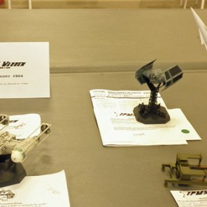 Some of the Real Space and Sci-Fi vehicle entries.  Jafo's TIE fighter took First Place in the category.