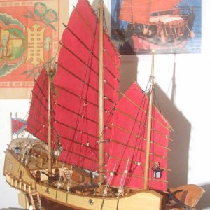 "Artensia Latina ""Red Dragon"" Chinese Junk"
