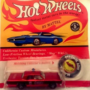 (6469) 1970 Original Fire Chief Cruiser still in package.
