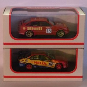 1:64 scale custom John Bowe 1992 DJR Shell Sierra  on top of Paul Radisich 2002 DJR Shell Falcon