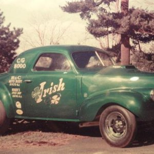Here's a late 1960's pic of the real 1:1 Mr. Irish, from my old Hometown. This is a custom '40 Chevy Coupe- Gasser.