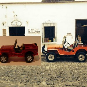 Guatemalan Willys Jeep and match