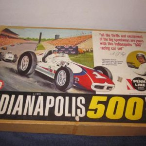 Box cover Art for Penn Line Indy 500 set