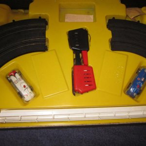 Penn Line Indy Set -Cars, Controller and Track, and IMO, the Track looks like MARX HO Track !?