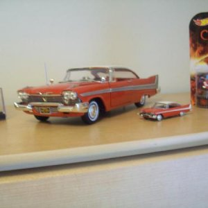 '58 Plymouth Belvedere 1/18 I ordered this long before Ertl had mentioned they were officially going to make a die cast of Her. So it is close enough