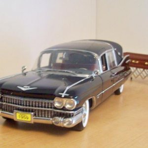 '59 Cadillac Landau Hearse Landau 1/18 My wife ordered this for my 41st birthday in 2010.