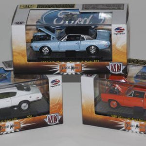 M2 Machines - Release 21 1969 Plymouth Cuda 440 (R21 13-01) 1969 Plymouth Road Runner 383 (R21 13-02) 1968 1/2 Mercury Cougar R-Code (R21 13-03)