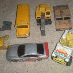 Collection of all the cars i found in my childhood home, I'm pretty certian this is all the ones i found, Ive search the back yard really good and i b